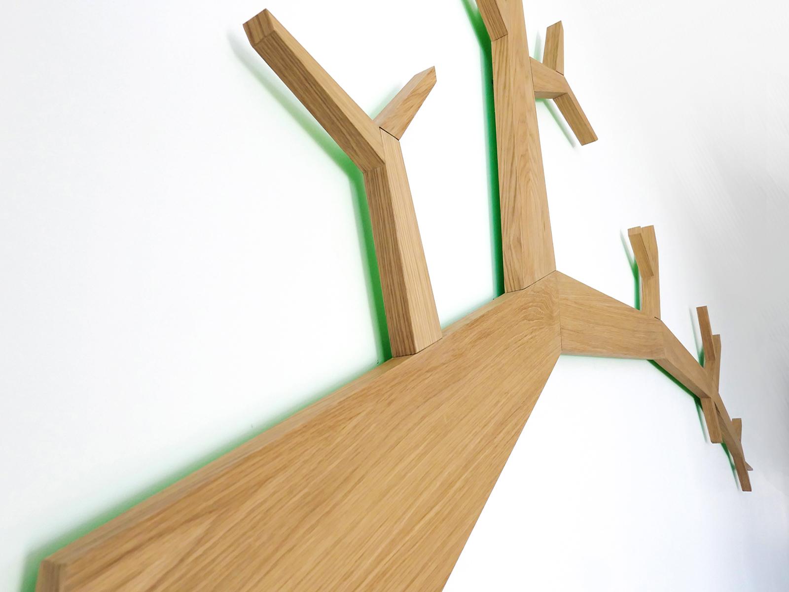 Gestileerde boomtak met reflectie