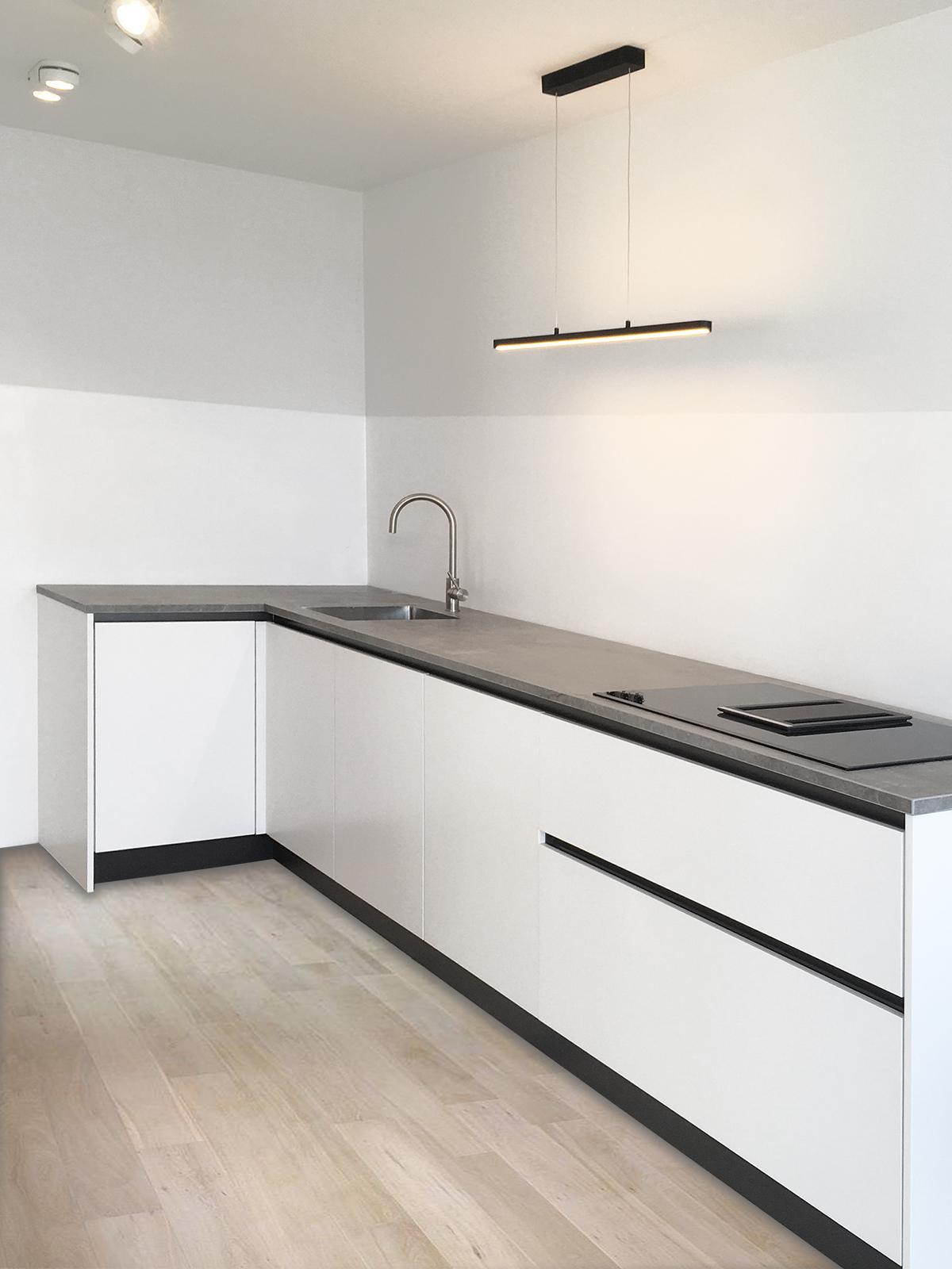 Witte keuken met Dekton blad